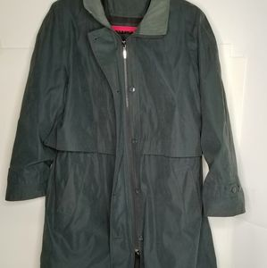 Fleet street green long lined trench style 16P